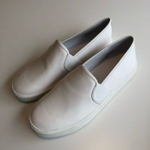 Vince | White Leather Sneakers